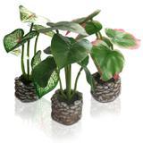 3 Efeite Decorativo Folhas Artificiais De Mesa Decoração - Y888