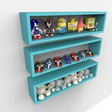 3 Nichos Candy Colors P/ Quarto Organizador Coleções 60cm - Eita! casa perfeita