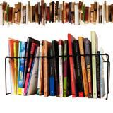 3 Organizador Separador Livros Suporte Multiuso Revisteiro Prateleira 44cm 20 Divisórias Cor Preta - Nacional