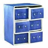 3 Unidades Caixa Organizadora Azul 26x22x31 Cm Tnt Gaveta Wincy