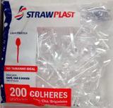 3000 Colher Descartável Picolo Café Cristal 8cm Strawplast