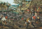 4 Estações - Primavera - Pieter Bruegel - Tela 30x43 Para Quadro - Santhatela