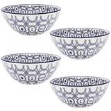 4 Tigela Bowl de Cerâmica Náutico Cumbuca 16cm Oxford