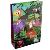 40 Sacolas De Papel Safari Floresta 25x17x6 Lembrancinha - On store