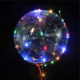 5 Balão Para Festa Led Bubble Aniversario Casamento Bexiga - Imp