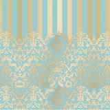 50 Saco Metalizado P/Presente 25X37 Adamascado Azul/Ouro - Cromus