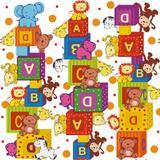 50 Saco Perolado P/Presente 10X14Cm Zoo Cubo Infantil - Cromus