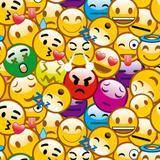 50 Saco Perolado P/Presente 15X22Cm Emoticons - Cromus