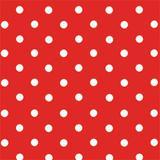 50 Saco Perolado P/Presente 15X29Cm Bolinhas Vermelho/Branco - Cromus