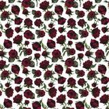 50 Saco Perolado P/Presente 20X29Cm Flores Vinho - Cromus