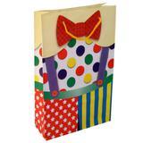 50 Sacolas De Papel Palhaço Circo 25x17x6cm Bolsa Festa - On store