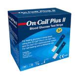 50 Tiras para medição de Glicose - On Call Plus