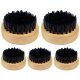 5UN Escovinha Redonda Barbearia Balcão Alta Qualidade - Escova para barba