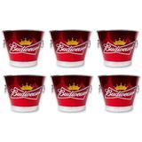 6 Baldes de Gelo Cerveja Predileta Budweiser Vermelho