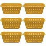 6 Cesto Caixa Organizadora Grande 5 Litros Amarela Ordene