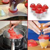 6 Forma Copo De Silicone Para Cozinhar Ovo Egglette Dieta - New