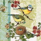 6 Guardanapos familia de pássaros HOF211303 pct 20fls - Home fashion