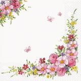 6 Guardanapos flores charmosas HOF211350 pct 20fls - Home fashion