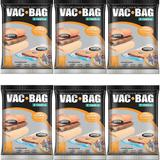6 Sacos À Vácuo Vac Bag Ordene Grande 55x90 Protetor Roupas