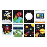 8 Cartazes Decorativo Astronauta  25X35Cm Dec. Festas - Cromus