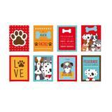 8 Cartazes Decorativo Cachorrinhos  25X35Cm Dec. Festas - Cromus