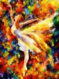 A Bailarina (2012) - Vince Pietrov - Tela 50x67 Para Quadro - Santhatela