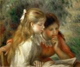 A Leitura - Pierre-Auguste Renoir - Tela 30x36 Para Quadro - Santhatela