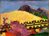 A Montanha Sagrada - Gauguin  Tela Gigante Para Quadro - Santhatela