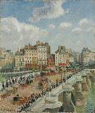A Ponte Nova - Camille Pissarro - Tela 30x35 Para Quadro - Santhatela
