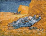 A Sesta (1890) - Vincent van Gogh - Tela 50x63 Para Quadro - Santhatela