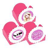 A1-Forminhas para Doces Barbie Rosa Claro - 10 unds - Vem festejar