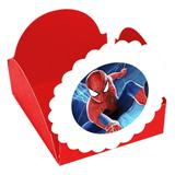 A1-Forminhas para Doces  Homem Aranha Vermelha- 10 unds - Vem festejar
