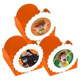A1-Forminhas para Doces  Hotel Transilvania 2 laranja - 10 unds - Vem festejar