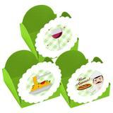 A1-Forminhas para Doces  Itália Verde - 10 unds - Vem festejar