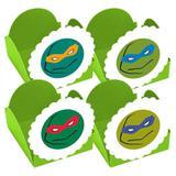 A1-Forminhas para Doces Tartarugas Ninjas Verde 10 unds - Vem festejar