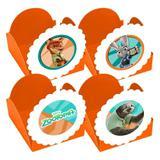 A1-Forminhas para Doces Zootopia Laranja com 10 unidades - Vem festejar