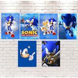 A1-Kit Cartazes Sonic c/ 06 unidades - Vem festejar