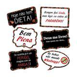 A1-Kit Placas Chá de Lingerie Modelo 01 c/ 06 Plaquinhas - Vem festejar