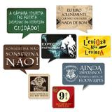 A1-Kit Placas Frases Harry Potter c/ 08 Plaquinhas - Vem festejar