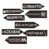A1-Kit Placas Lugares Harry Potter c/ 08 unidades - Vem festejar