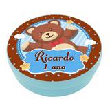 A1-Lembrancinha Latinha Ursinho Personalizado - Vem festejar