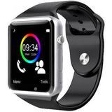 A1 Relógio Inteligente Smart Watch Bluetooth Chip Android S7 Preto