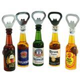 Abridor de garrafa com ima de geladeira formato garrafa cerveja sortido - multiart - ddp