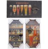 Abridor de garrafa modelo quadro decorativo sortidos 15x30cm - Fwb
