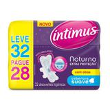 Absorvente Intimus Gel Noturno Suave Com Abas Leve 32 Pague 28