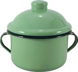 Açucareiro farinheiro esmaltado ágata verde 450 gr - metallouça