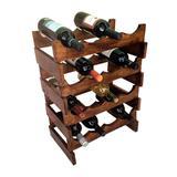 Adega Art Madeira para 16 Garrafas Vinho de Chão Marrom - Arte em madeira