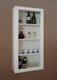 Adega Bar para Vinhos e Bebidas Cristaleira Suspenso de Parede para Sala Estar ou Jantar Branco - Formalivre