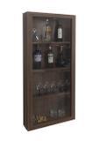 Adega Bar para Vinhos e Bebidas Cristaleira Suspenso de Parede para Sala Estar ou Jantar Cor Versati - Formalivre