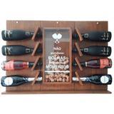 Adega de Parede Art Madeira para Espumante e Champagne 8 Garrafas - Arte em madeira